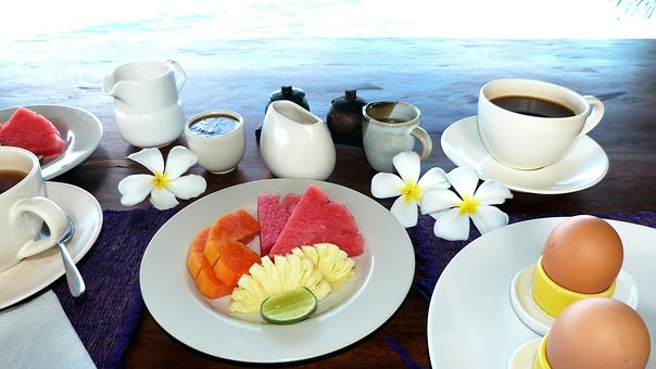 Breakfasts like this are part of an unforgettable tropical holiday